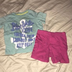 Other - Baby girl shirt and shorts both size 12 months